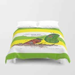 Vegetables' daily life on Planet V 01  Duvet Cover
