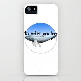 Big Whale iPhone Case
