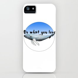 Big Whale iPhone Case