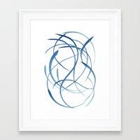 koi fish Framed Art Prints featuring Koi Fish by Dena Carter