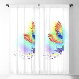 Splendid Rainbow Hummingbird Blackout Curtain