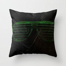 Electro Glasses Throw Pillow