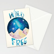 Wild & Free - Gypsy Galaxy Starscape Mountains Stationery Cards