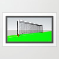 football Art Prints featuring FOOTBALL by Pelo HD