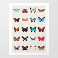 butterflies Art Prints featuring Butterflies by Dorothy Leigh