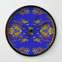 electric blue chinese whispers Wall Clock