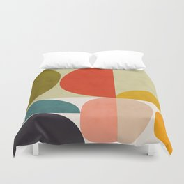 shapes of mid century geometry art Duvet Cover