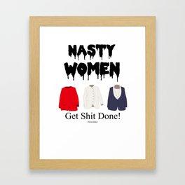 """""""Nasty Women"""" Framed Art Print"""