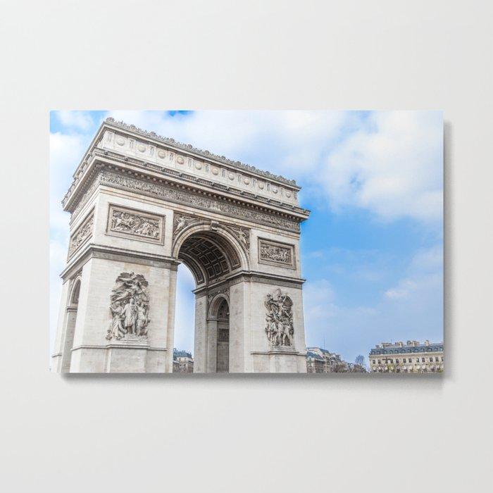 Arch of Triumph in Paris, France. Metal Print
