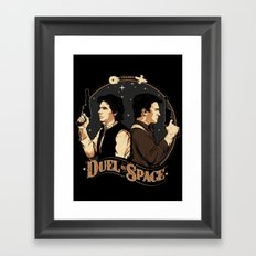 Duel in Space Framed Art Print