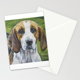 English Foxhound dog art portrait from an original painting by L.A.Shepard Stationery Cards