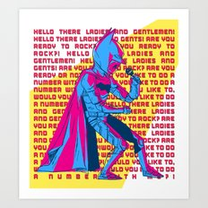 The Dark Knight Rocks (Text Version) Art Print