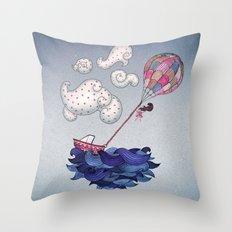 A Textured World Throw Pillow