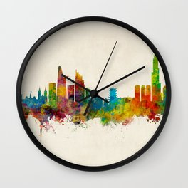 Ho Chi Minh City Saigon Vietnam Skyline Wall Clock