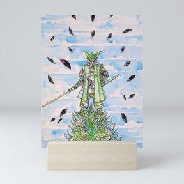 SAMURAI SURROUNDED BY THE EYES Mini Art Print