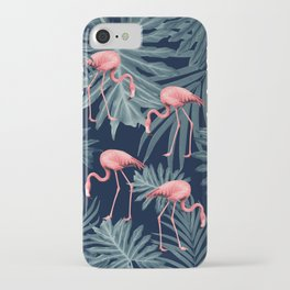Summer Flamingo Jungle Night Vibes #1 #tropical #decor #art #society6 iPhone Case