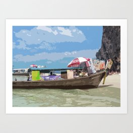Thai Long Boat Art Print