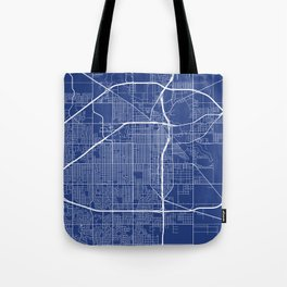 Lubbock Map, USA - Blue Tote Bag