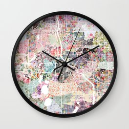 Minneapolis map - Landscape Wall Clock