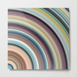 Colorful Planetary Rings Metal Print
