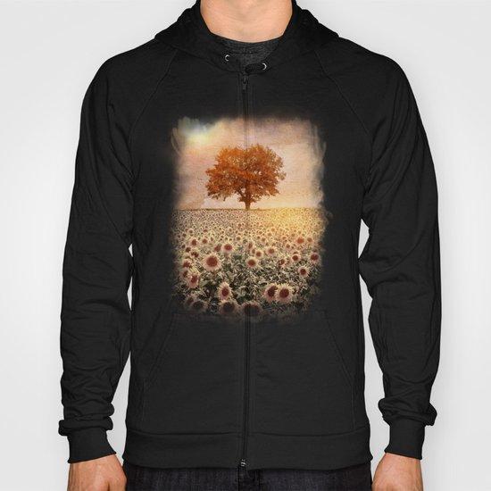 lone tree & sunflowers field (colour option) Hoody