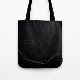 Psychedelic Black Tree of Life Tote Bag