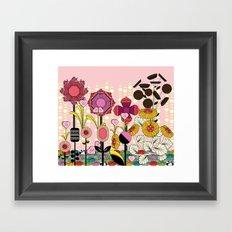 Confectionery Garden Framed Art Print