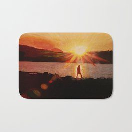 Peaceful Warrior  Bath Mat