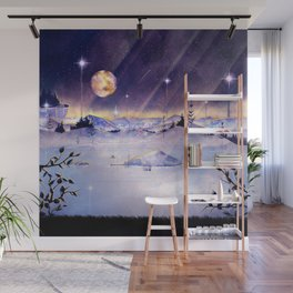 Moon Lake Scenery Wall Mural
