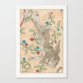 Spiel Mit Mir: Kaninchen Canvas Print