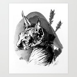 Guard Sphinx Art Print
