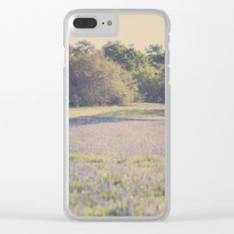 Bluebonnet Morning Clear iPhone Case