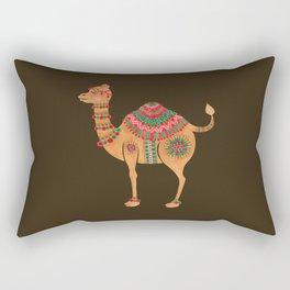 The Ethnic Camel Rectangular Pillow