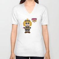 river song V-neck T-shirts featuring Miss Piggy Song - Moffat Babies by Murphis the Scurpix