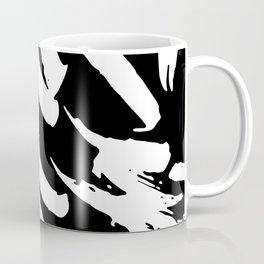 Black and White Brush Strokes Coffee Mug
