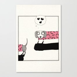Sausage Dog Love Canvas Print