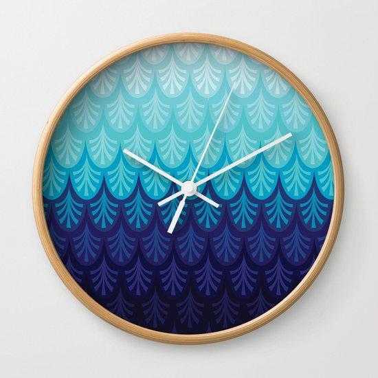 Arctic Ombre! Wall Clock