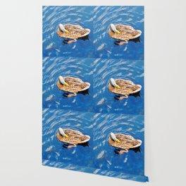 Making Waves While Preening Wallpaper