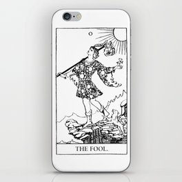 The Fool: Black and White Line Art iPhone Skin