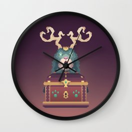 The Jackalope King's Chest Wall Clock