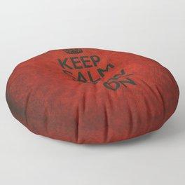 Keep Calm the Show Goes On Floor Pillow