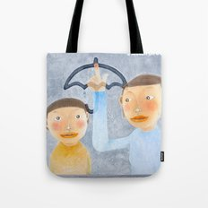 a lesson on a rainy day Tote Bag