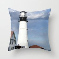 maine Throw Pillows featuring Coastal Maine by Jessi Trafton
