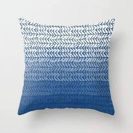 Ombre Blue and White Throw Pillow