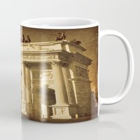lee pace Mugs featuring Arco della Pace Milan by Louisa Catharine Photography