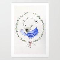 Holiday Bear  Art Print