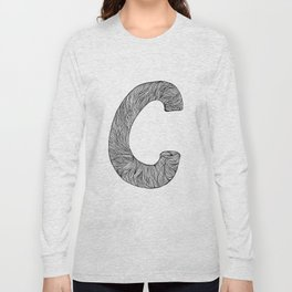 Hand Drawn Font C Long Sleeve T-shirt