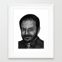 crowley Framed Art Prints featuring Crowley by Jack Kershaw