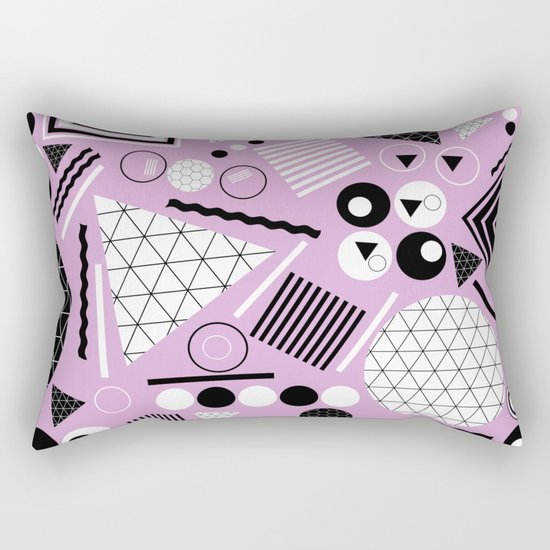 Busy Busy Busy Black And White! Rectangular Pillow
