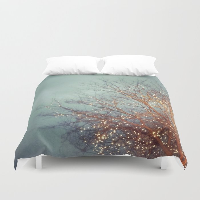 December Lights Duvet Cover